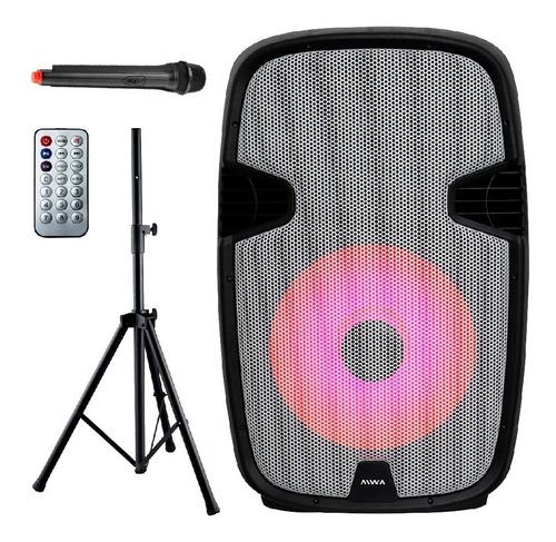 Parlante Aiwa Bluetooth Portátil Con Trípode Aw-p1500ps