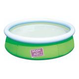 Pileta Inflable Redonda Bestway My First Fast Set 57241 De 152cm X 38cm 477l Color Verde