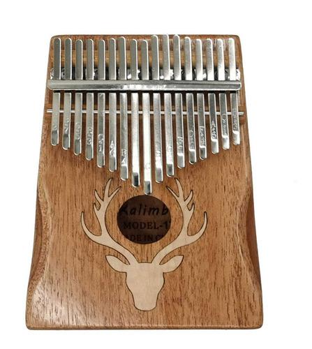 17 Teclas Kalimba Alce Pulgar Piano Portátil Instrumento Mu