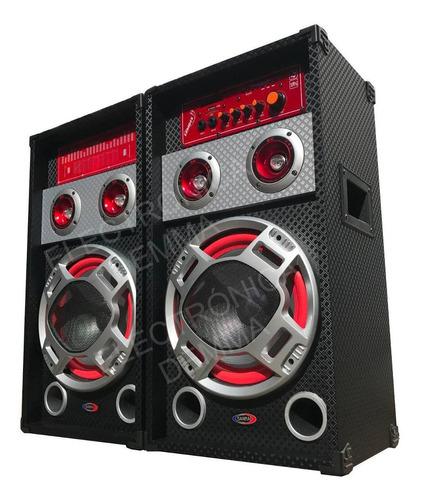 Par De Bafle Potenciado Bluetooth Usb-sd- Mic-karaoke 2200 W
