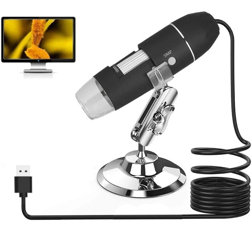 Microscopio Digital Usb 1600x Zoom Optico Hd 8 Leds