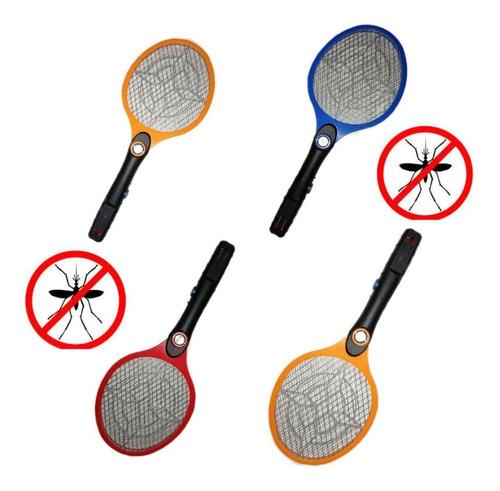 Paquete 4 Raquetas Matamoscas Mosquitos Eléctrico Recargable