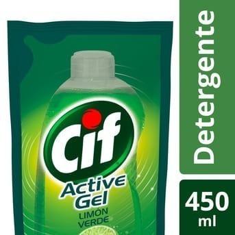 Cif Act.gel Ult.limon Verde Facil Enjuague Doy Pack 450 M