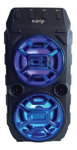 Parlante Portatil Con Luz Led Bluetooth Usb Kanji Bora Lh