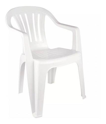 Cadeira De Plástico Bela Vista Branca - Mor