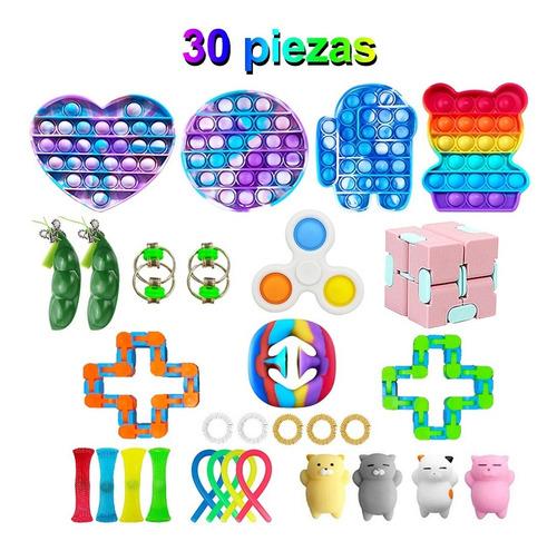 Fidget Cube Toys Juguete Antiestres Alivio Juego 30 Piezas