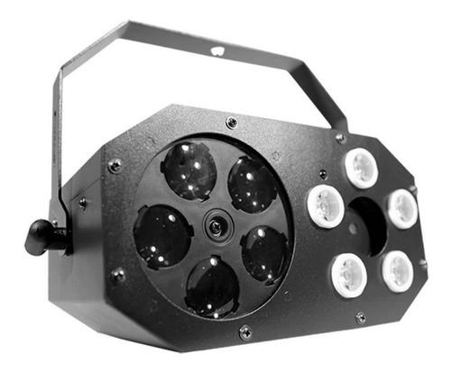 Madbox Xl Efecto 3 En 1 Led Rgb + Láser + Flash Luces Dj Pro