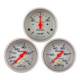 Kit 3 Relojes Orlan Rober Racing 52mm Agua Aceite Amperimetro