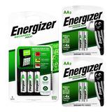 Cargador De Pilas Energizer Maxi + 6 Pilas Aa Recargables