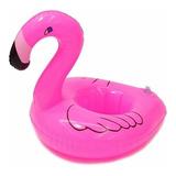 12 Porta Vaso Inflable Forma De Flamingo Flotadores Alberca