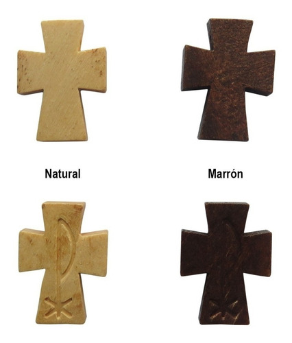 10 Cruces Madera Colon Tallada Para Rosarios Cr5 As 31492