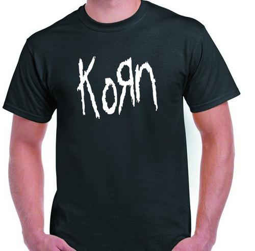 Remera Korn Algodon Peinado