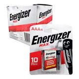 Pilas Energizer Aaa Caja 10 Blisters X4