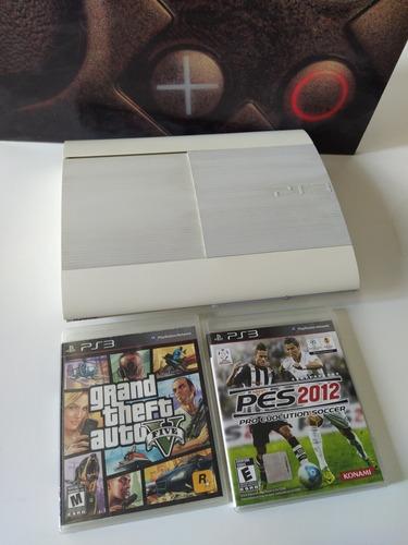 Playstation 3 Ultra Slim 250gb + 2 Juegos, Sin Joystick