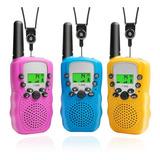 Radio Walkie Talkie Con Rango De 3 Millas P/niños, 3 Piezas