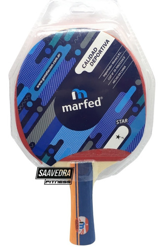 Paleta Ping Pong 1 Estrella Marfed Tenis De Mesa Profesional