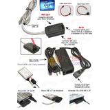 Adaptador Sata/ide A Usb- Con Fuente Y Cables
