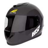 Casco Para Moto Integral Halcon H57 Negro Talle L