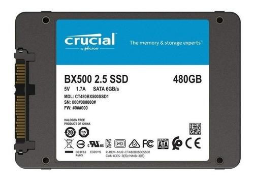 Disco Ssd 480gb Crucial Bx500 3d Sata 6.0gb/s 2.5
