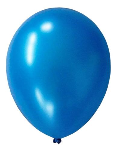 Globos Perlados X 10 Uds. Apto Helio / 12 - Azul Francia