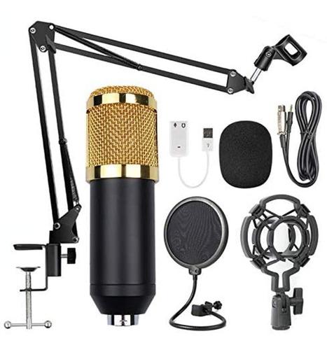 Kit Micrófono Estudio Bm-800 Brazo Antipop Accesorios