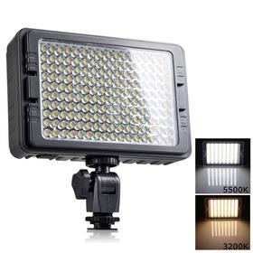 Foco Led 160 Luces Flash Cámara Videograbadora Con 2 Filtros