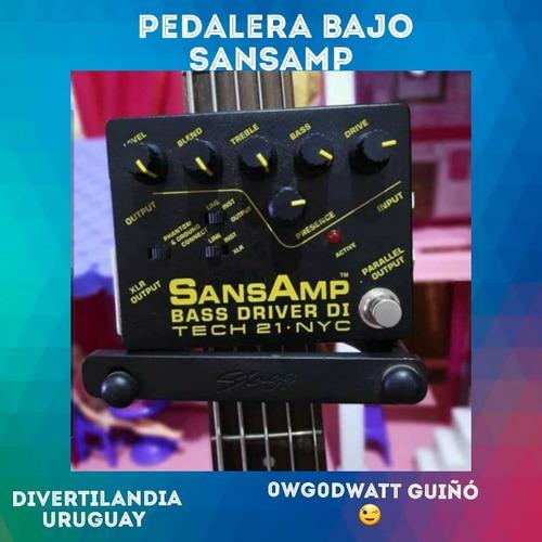 Pedalera Bajo Tech 21 Sansamp Made In Usa Como Nueva
