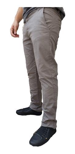 Calças Masculina Sarja Slim Fit C Lycra Várias Cores