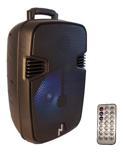 Parlante Inalmabrico Portatil Bluetooth 12 Led Fm Noga 440bt