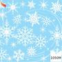 Tnt Estampado Flocos Neve Frozen Decoração 1,4m X 2 Metros Original