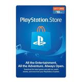 Psn  10 Usd - Tarjeta Playstation