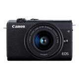 Canon Eos Kit M200 + Lente 15-45mm Is Stm Sin Espejo Color  Negro