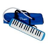 Melodica A Piano Parquer 32 Notas Azul Funda Manguera Cuota