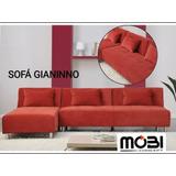 Sofa Tres Puestos Moderno. En Tela O Semicuero