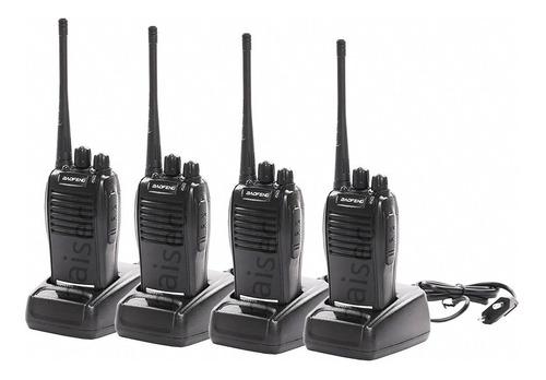 Kit 4 Radio Comunicador Walktalk Talkabout Profissional 777s
