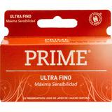 Preservativo De Látex Prime Ultrafino X 12 Un