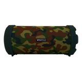 Parlante Vivitar Fabric Collection Bluetooth Tube Speaker Portátil Camuflado