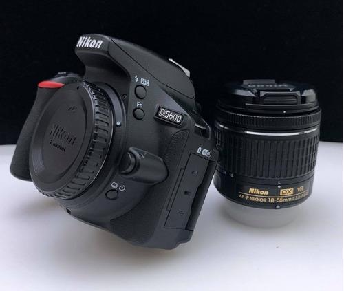 Nikon D5600 18-55mm Vr Kit Dslr Color Negro Sd 16 Gb Ytripie
