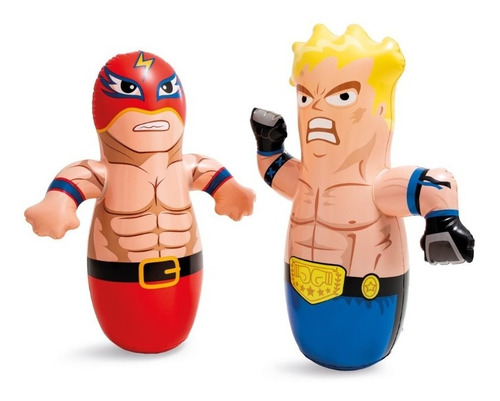 Bobo Muñeco Luchador Inflable Golpeable Para Niños Punching