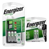 Cargador De Pilas Energizer Maxi +4 Pilas Aa Recargables