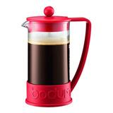 Cafetera Bodum Brazil 10938 Manual Roja Prensa Francesa