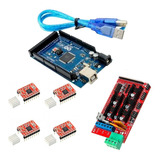 Kit Arduino Mega + Ramps 1.4 + 4 X Driver A4988 + Usb Full