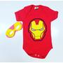 Body Bebê Heróis Para Mês Versário Coortável Original