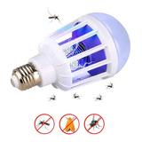 Lámpara Led 12w Mata Moscas Mosquitos Insectos E27 Única