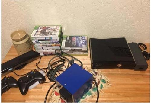 Xbox 360 + Kinect + 2 Controles + Juegos Poco Uso