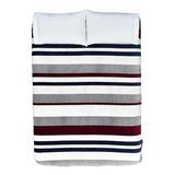 Cobertor Vianney Ligero 2 Plazas/1 Plaza Oxford/rojo/gris