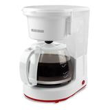 Cafetera Black+decker Cm0410 Semi Automático Blanca De Filtro 220v