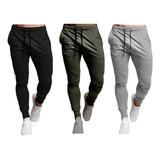 Pantalón Sudadera Jogger Hombre X3 Unidades + Envío Gratis