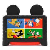 Tablet  Multilaser M7s Plus Mickey Mouse Nb314 7  16gb Preto/vermelho Com 1gb De Memória Ram