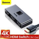 Adaptador Hub Splitter Switch Hdmi 2x1 4k 2 Salidas Baseus